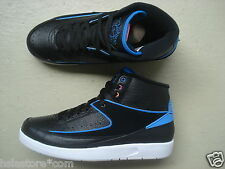"Nike Air Jordan 2/II Retro 45.5 ""Radio Raheem"" Black/Fire Pink-Photo Blue-Atmoic"