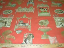 "~19 1/8 YDS~P KAUFMANN~""BEST IN SHOW DOGS""~COTTON UPHOLSTERY FABRIC FOR LESS~"