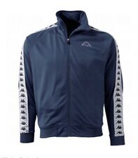 Kappa Men's Banda Anniston Heritage Track Jacket Size S Navy Blue/White