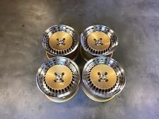 "15"" Stuttgart ST4 Alloy Wheels GOLD POLISHED VW Polo Lupo Clio 4x100 Golf MK1"