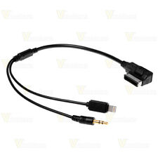 Music Interface AMI 3.5mm AUX + 8-Pin Charge Adapter For Audi A3 A4 A6 A8 Q5 Q7