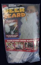 Beer Beard Adult Secret Beverage Dispenser ~ gag gift ~ Costume White