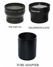 Wide + Tele Lens + Tube bundle for Panasonic DMC-FZ60 DMC-FZ60K DMC-FZ40 FZ40K