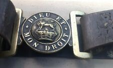 Victorian (1837-1901) Late Reign British Army Service Belt & Brass Buckle, UK
