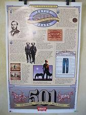 Vintage NOS  Levi's poster, 80's, 501 shrink to fit jeans,