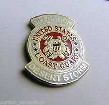 United States Coast Guard USCG Desert Storm Veteran Lapel Pin Badge 1 inch