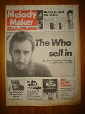 MELODY MAKER 1979 JAN 27 THE WHO JOHNNY ROTTEN COCKER