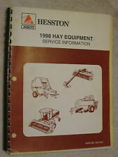 1998 AGCO HESSTON HAY EQUIPMENT SERVICE INFORMATION REPAIR MANUAL