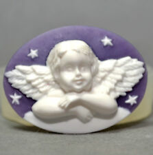 ANGEL CAMEO CHERUB - silicone mould - food use, resin, fimo, plaster, wax  mold