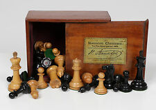 Antique Jaques London Library Size Lasker Chessmen C 1880
