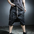 Byther MEN'S FASHION DISTINTIVO Hardcore Cera Rivestito Loose Fit Baggy Pantaloncini