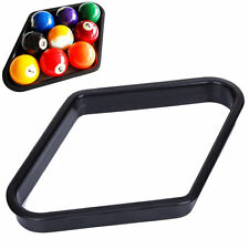 Billiards 9 Ball Pool Table Triangle Rack Heavy Duty Black Plastic Accessory New