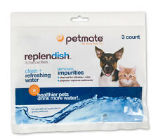 PETMATE REPLENDISH FOUNTAIN FILTERS CHARCOAL 3 PACK FREE SHIPPING TO THE USA