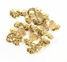 Iron-On HOT-FIX Metal Skull Studs applique. (50 Or 100Pcs) High Quality