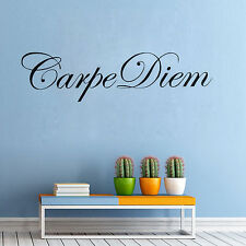 CARPE DIEM FRANCE ROMANTIC WORDS Quote Wall Sticker Home Removable Vinyl Decal