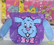 NEW LARGE EASTER GIFT BASKET SUPPLIES EGG HUNT BASKETS EASTER TOTE PLAYSET