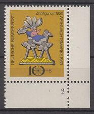 10+5 Pf Weihnachten 1969 Mi 610 ** Wohlfahrtszähnung Formnummer 2As4 Luxus!