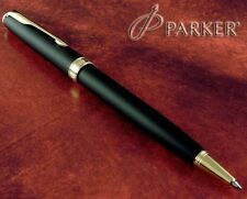 Parker Style Executive Ballpoint Matte Black And Gold