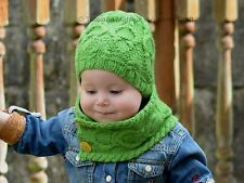 Knitting Pattern - Rainforest Hat and Cowl (Baby, Child and Adult sizes)