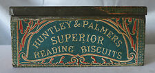 """HUNTLEY & PALMERS BISCUITS TIN """"GRAND PRIZES"""" PARIS EXHIBITIONS 1878 & 1900"""