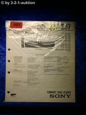 Sony Service Manual CDP 297 / 397 CD Player (#0463)