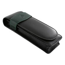 Pelikan Leather Triple Pen Pouch Case, Black/Green, Each (924092)