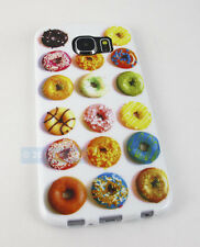 FOR SAMSUNG GALAXY S 6 S6 CUTE DONUTS TPU IMD GRAPHIC GEL SKIN CASE PHONE COVER