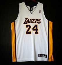 100% Authentic Adidas Kobe Bryant Lakers NBA #24 Home White Jersey Size 48 XL