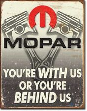 Mopar Pistons TIN SIGN vintage hotrod racing garage metal poster wall decor 2015
