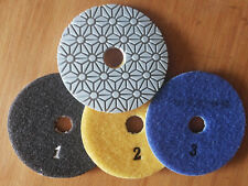 Diamond Dry Polishing Pads 3 inch 3 STEP for quartz Granite Stone marble