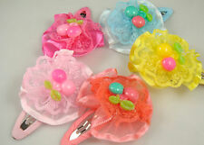 """Wholesale 5pcs girl baby toddler 2""""boutique Hair Bow mixed ribbon with clips 8k"""