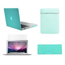 "4in1 Rubberized Hot BLUE Case for Macbook PRO 15"" A1286 +Key Cover+ LCD +Bag"