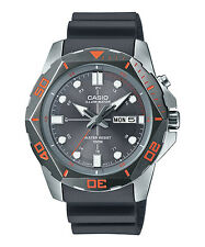 Casio Men's Super Illuminator Diver Analog Watch, Grey Display MTD-1080-8AV