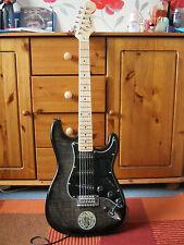 Aiersi negro ceniza color llama de arce Chapa St Guitarra Eléctrica Con Bolso + Correa