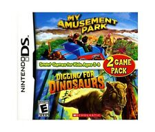SCHOLASTIC DIGGING FOR DINOSAURS + AMUSEMENT DS NEW! DSI, LITE, XL 3DS! JURASSIC