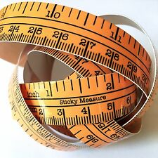 "60"" Hunter Orange Self Adhesive Measuring Tape Ruler Sticker Fishing Boating"