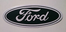 "THE LARGE FORD BADGE DECAL IN BLACK ""FITS OVER ORIGINAL BADGE ""FREE UK POST"