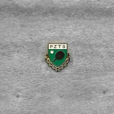 POLAND TABLE TENNIS FEDERATION OFFICIAL PIN OLD GOLD