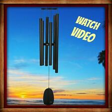 NEW WOODSTOCK CHIMES BELLS OF PARADISE, LARGE, BLACK, MUSICALLY TUNED WIND CHIME