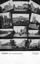 Epsom & Neighbourhood Multi View old pc used 1910 Tillett
