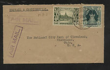 Burma  109, 112  on  cover to  US         KL0125