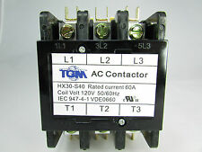 Definite Purpose Contactor 60AMP/3Pole/120Volt New Heat Pump, A/C Refrigeration