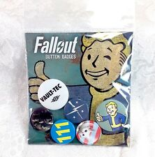 Fallout 4 Buttons Badges Pins Bethesda Officially Licensed New Set #1