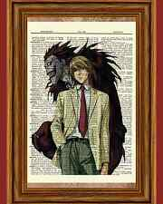 Light & Ryuk Death Note Anime Dictionary Art Print Poster Picture Book Manga