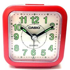 Casio TQ141-4 Red Travel Wake Up Timer Analog Travel Small Alarm Clock TQ-141-4