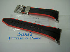 Seiko 22mm Black-Orange/Red Band: F1 SNL033-SNL035-SPC001-SPC003-SNJ019 #4KZ5ZZ