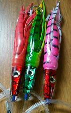 3X swallowtail lures rigged.. tuna, dolphinfish,Wahoo,mackerel,kingfish