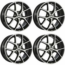 4 x BBS SR Dark Grey / Polished Face Alloy Wheels - 5x120 | 17x8 "