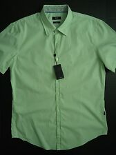 "Men's Brand New Hugo Boss Short Sleeve Shirt S/S Slim Fit ""L"" casual button dow"