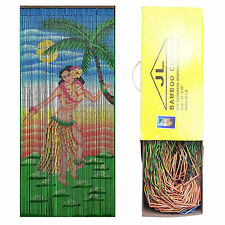 JL TRADING Bamboo Bead Door Curtain Dancing Hula Girl Panel Screen Room Divider